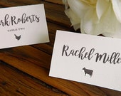 DIY Printable Place Card Escort Card with Food Icons