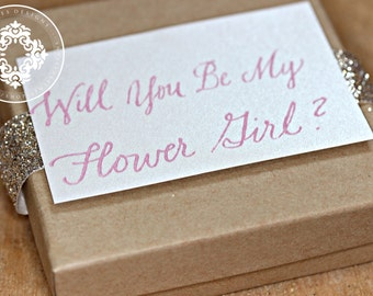 Will you be my flower girl?, Will you be my Bridesmaid?, Gift Boxes, Personalized, gifts