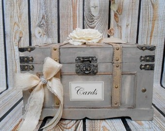 Personalized Large Wooden Crate Card Box Wedding Card Holder