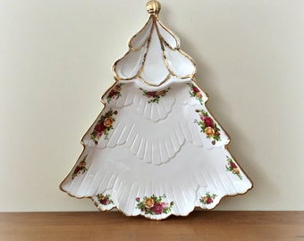 Royal Albert Old Country Roses Christmas Tree Platter