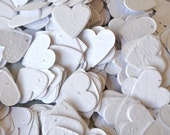 SALE - White Heart Wildflower Seed Paper Confetti, Wedding Favor