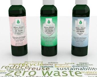 Silver Botanicals' Silver Shield Deodorant Triple Pack Refills, All-Natural, Aluminum-Free, Colloidal Silver Deodorant
