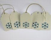 5 - Holiday / Christmas Tags - Snowflakes