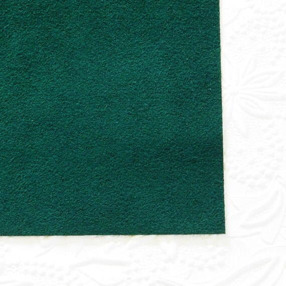 Egyptian green ultrasuede fabric for bead embroidery
