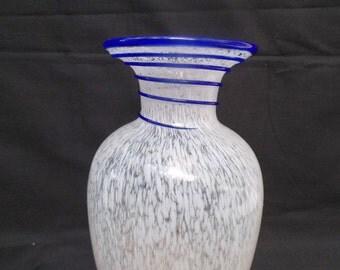 Lovely Hand Blown Murano Style Glass Vase