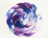 SW Merino / Silk Wool Top (Roving) - Spinning Fibre 4 oz. - Violet Riot