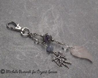Angelic Gemstone Amulet Hanging Charm - Bag Charm, Key Chain, Car Mirror Mobile Charm (AMC0017)