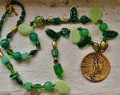 The Herald Green necklace