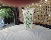 Kentucky Derby Churchill Downs Glass Vintage 1969 Official Jockey #3 Horseshoe