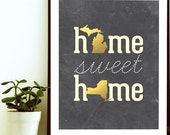 Home Sweet Home Print, Home Sweet Home Decor, Couple Gift For Boyfriend, Wedding Gifts For Couple, Long Distance Boyfriend Gift, Map Gifts