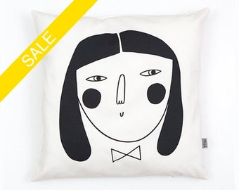 Woman Cushion Cover organic cotton twill