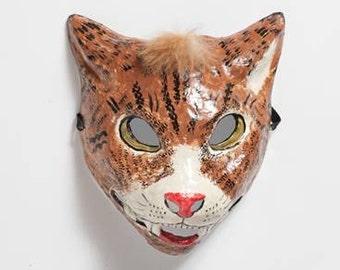 handmade paper wild cat mask