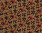 Sweet Pea Fabric Collection by Kansas Troubles - Gold Clinging Vine - 9401-12 – 1 Yard