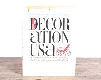 1965 Decoration USA book / Wilson and Leaman Book / Modern Interior Design Book / Antique Book / Interior Design Gift / Picture Book