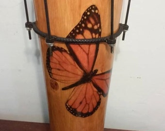 Ashiko Drum African Butterfly Empress Style Nyabinghi Rasta Drum