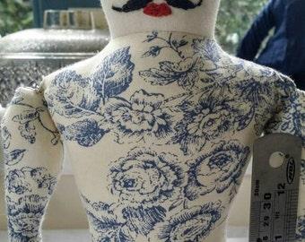 Tattooed Man Art doll