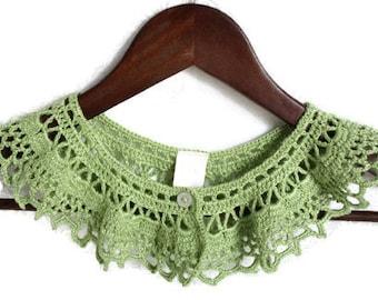 Crochet Necklace - Crochet Collar - Detachable Collar - Vegan Collar - Statement Necklace - Vegan Necklace - Vegan Jewelry - Crochet Jewelry