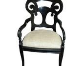 Ebonized Arm Chair