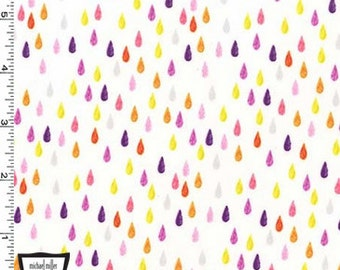 Rainbow Drip Dot Raindrops from Michael Miller's Pitter Patter Collection