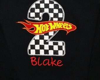 Custom Hot Wheels Birthday Shirt