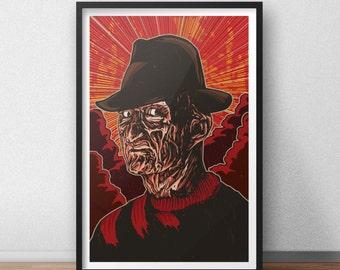 Freddy Krueger - 12 x 18 inches - A Nightmare on Elm Street