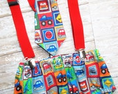 Monster truck Birthday outfit cake smash wrecker dump tractor taxi suspenders diaper cover construction bow tie or tie 12 18 24 toddler