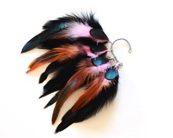 Feather Ear Cuff, Ear Cuff, Feather Earrings, Festival, Festival Earrings