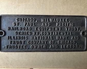Vintage Railroad Plaque