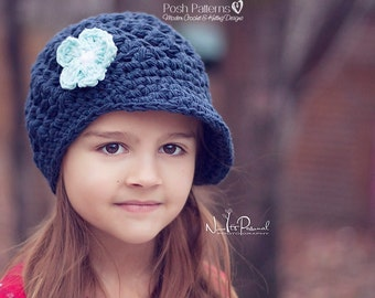 Crochet PATTERN - Crochet Hat Pattern - Crochet Newsboy Hat Pattern - Crochet Patterns Women - Baby, Toddler, Kids, Adult Sizes - PDF 404