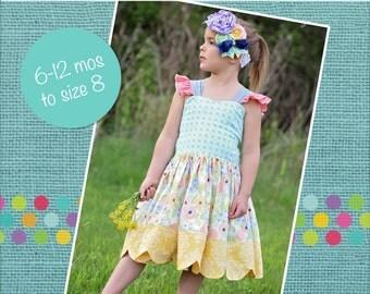 LaRae's Scalloped Dress & Top PDF Pattern Sizes 6/12m to 8 Girls