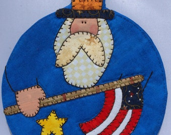 4th of July Uncle Sam Mug Rug 3