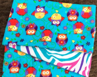 Wild Owls,  *** STAGE 2*** Children's G Tube Belly Band Wrap, (waist size 20-22 inches)