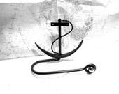 Nautical Wrought Iron Anchor towel bar