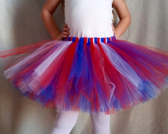 Custom Sports Tutu New England Patriots/NY Giants/Chicago Cubs/4th of July colors, Girls sizes 6-14