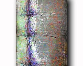 Art Painting Canvas painting ORIGINAL  ABSTRACT  PAINTING on canvas Fusion of Color 36''x24'' Acrylic on Canvas