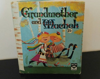 Vintage Children's Book - Grandmother and Machek - 1961