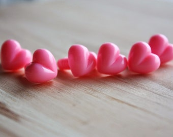 13mm Safety Noses, 20 pcs, heart shape, for stuffed animals, toys