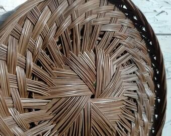 Woven Basket Wall Art round wicker basket | etsy