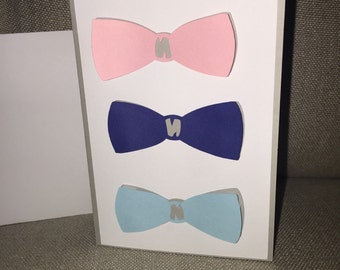 Blank greeting card with bows