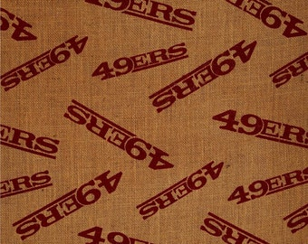 NFL Printed Burlap San Francisco 49ers by the yard