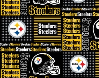 NFL Pittsburgh Steelers 100%Cotton V1 Fabric by the yard