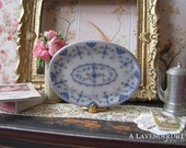 Blue Royal Platter/Tray for Dollhouse