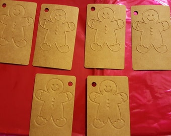 6 Gingerbread men Gift tags