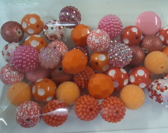 Destash, 18mm plus Beads, Paired, 50 beads or more, 50AH
