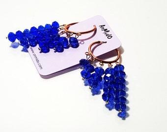 Hoop style earrings, Hoop earrings, Dangling Earrings, Pearl Earrings, Crystal Earrings, Long dangling earrings