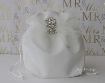 Wedding Dollar Dance Bag, Wedding Money Bag, Bride Money Bag