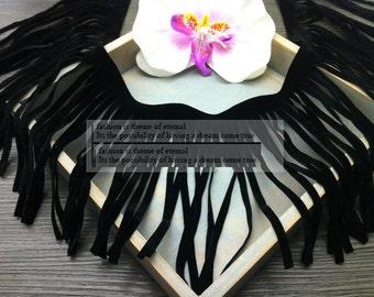 "3 yard 14cm 5.51"" wide black/red/brown/coffee/ivory fringe tassels tapes lace trim ribbon po51r free ship"