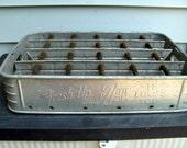 Metal 7 Up Crate Carrier Rare / Metal Soda Crate