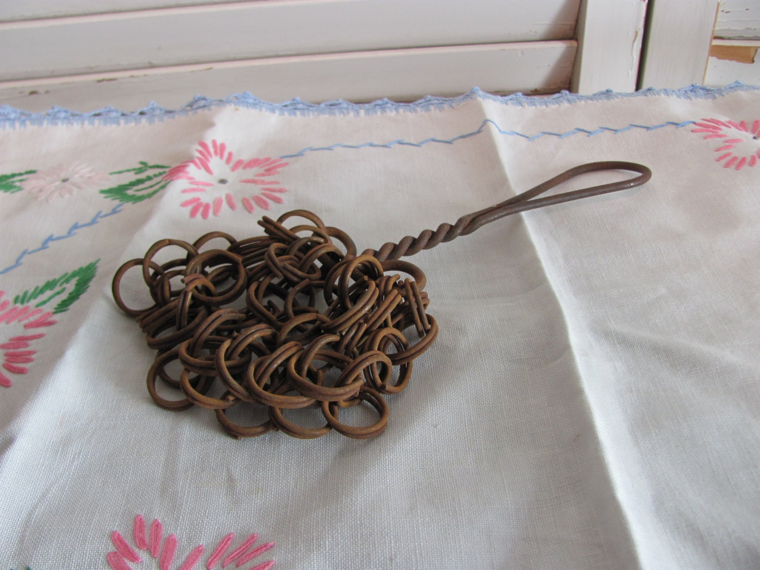 Metal chain pot scrubber antique and very rare