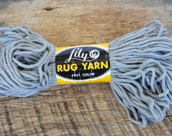 Gray Vintage Lily Rug Yarn 80 Yards Lily Mills Co Shelby North Carolina